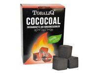 1 kg Natur-Kohle aus Kokos für Shisha Grill Wasserpfeife BBQ COCOCOAL Briketts