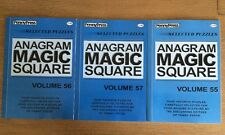 Lot of 3 ANAGRAM MAGIC SQUARES Penny Press DELL Collectors Series Variety