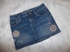 Sz 12 Reg Gap Kids Copper Mountain Embroidered Denim Jean Skirt