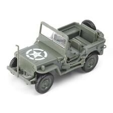 Green Willys Jeep Car WWII Military US Army Vehicle Toy 1:48 Model Kits