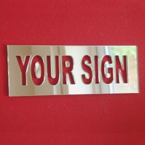 Bespoke Name/Word Rectangle Sign (3mm Acrylic Mirror, Several Sizes Available)