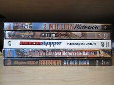 Lot of 5 NEW Biker, Motorcycle Rally DVDs: Sturgis, Daytona, Laconia,Laughlin5-1
