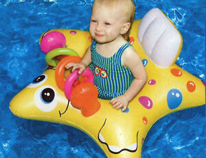 Inflatable Starfish BABY Seat pool FLOAT Colorful beach SAFE Toys lake 90253