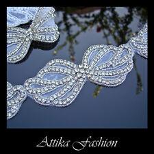 Haute Couture --- Rhinestone Crystal Designer Trim *Per Motif * Wedding*