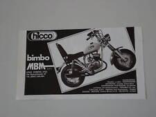 advertising Pubblicità 1977 MBM CHICCO BIMBO