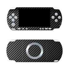 Black Carbon Fiber Vinyl Decal Skin Sticker Cover for Sony PSP 2000