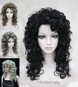 Charm Women Mixed Medium Long Curly Women Ladies Daily wig Cosplay + wig cap