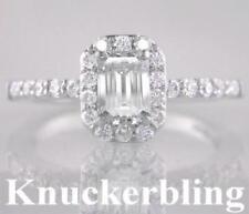 Emerald Shaped Very Good Cut VS1 Fine Diamond Rings