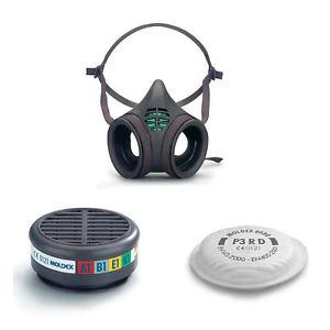 Moldex 8000 Series Reusable Half Face Masks,Gas Particulate Filter Cartridges