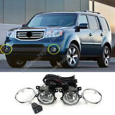 For Honda Pilot 2012-2014 w/ Bulbs/ Switch/ Cable Halogen Front Fog Light Kit
