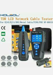 Kolsol Tdr Lcd Network Cable Tester Tracker For Rj45/Rj11/Bnc Nf-8601S