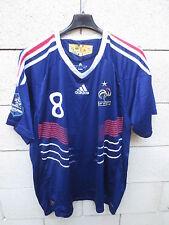 Maillot EQUIPE de FRANCE GOURCUFF n°8 ADIDAS shirt XL trikot football bleu