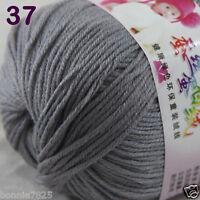 Sale 1 Skein x50g Baby Cashmere Silk Wool Children hand knitting Crochet Yarn 37
