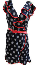 WOMENS INFLUENCE SNOWFLAKE PATTERN DRESS WITH RED TRIM BRAND NEW SIZE UK 12