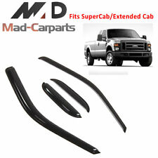 Window Deflector Visor Guard For 1999-2016 Ford F-250 SuperCab Extended Cab 4pc