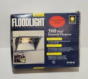 Regent Quartz•Halogen Outdoor Flood Light 500 Watt - New Old Stock Open Box