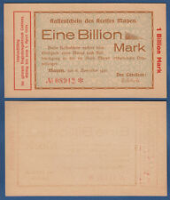 MAYEN  1 Billion Mark 6.11.1923  fast KASSENFRISCH