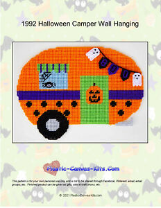 Halloween Camper Wall Hanging- Plastic Canvas Pattern or Kit