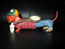 Rare Dachshund Dog Wiener Redneck Hillbilly Figurine Hot Diggity Westland Neck