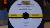 NEW HOLLAND T7.170-210 TRACTOR OPERATORS MANUAL ON CD CD39
