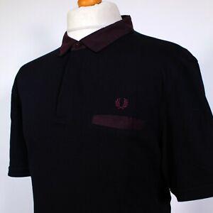 """Fred Perry Oxford Collar Polo (2XL/3XL/48"""" - Navy) Mod 60s Casuals Terraces Rare"""