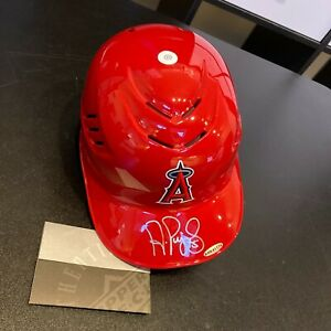 Albert Pujols Signed Los Angeles Angels Game Model Helmet UDA Upper Deck COA