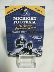 Michigan TK Legacy Card The Victors Signature Series Box Top Card 2002 Promo Ad