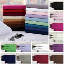 Plain Dyed (POLYESTER) Fitted Bed Sheet Single,Double, King, Bedding Size