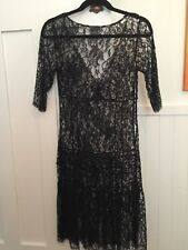 Collette Dinnigan Black Lace Dress Size XS will fit size 8