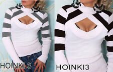 Unbranded Hip Length Striped Jumpers & Cardigans for Women