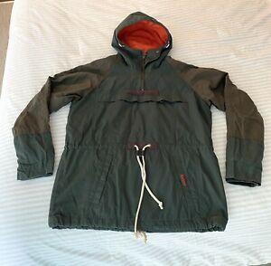 Barbour 'Arete' Sage Half Zip Jacket With Hood - Small