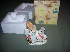 Enesco 1999 My Blishing Bunnies Here We Stand On The Edge of Tomorrow in Box
