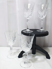Set of 4 Crystal Wine Glasses in Masquerade by Cristal D'Arques-Durand