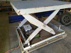 Hydraulic scissor lift table 500kg 2 of 2
