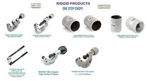 Ridgid Benders, Tube Cutters, Reamers - HIGH QUALITY PRODUCTS
