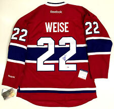 DALE WEISE SIGNED MONTREAL CANADIENS REEBOK PREMIER HOME JERSEY PSA/DNA COA