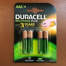 4 x Duracell AAA 750 mAh Rechargeable Batteries Plus NiMH ACCU LR03 HR03 DC2400