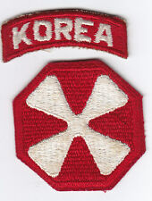 Original Korean War 8th Army Patch with Korea Tab - Japanese-made