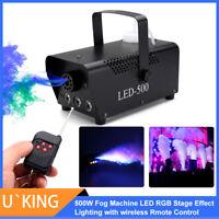 500W Nebelmaschine RGB LED Beleuchtung Fog Effekt Licht +Wireless Remote DJ Club