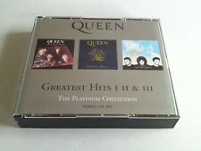 QUEEN GREATEST HITS 1, 2 & 3 THE PLATINUM COLLECTION  BOX SET 1ST EDITION