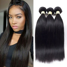 7A Grade Tissage Hair de Cheveux Humain Bresilien Raides 300g 3Bundles Extension