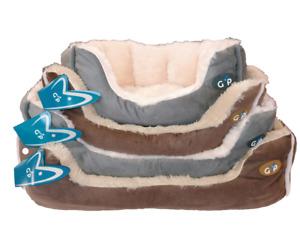 Pet Dog Cat Calming Bed Comfy Warm Fluffy Nest Soft Fur Washable Nordic Gor Pet