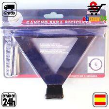 GANCHO pared techo SOPORTE PARA COLGAR BICICLETA BICI VERTICAL HORIZONTAL *Envío