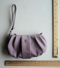 VERA WANG Lavender PLUM OMBRE Purple Bag Tote LEATHER ~ WRISTLET Wallet Purse