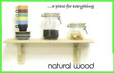 2 FEET / 3 FEET WALL MOUNTED NATURAL WOOD SHELF CORNER SHELVING STORAGE DISPLAY