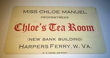 Rare Antique Southern Advertising Women's Occupational Tea Room! Old Trade Card!