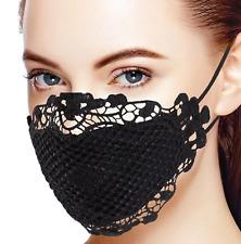 Aufregende Mundmaske - Atemmaske - Fashion schwarze Spitze  ! Sofort Lieferbar !