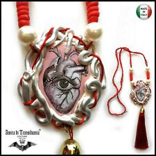 Love Talismano magico del Amore cuore magia potere wiccan pagan amuleto ciondolo