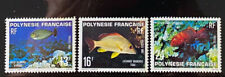 FRENCH POLYNESIA  341 - 343  Beautiful  Mint  NEVER  Hinged  Set  FISH  AG
