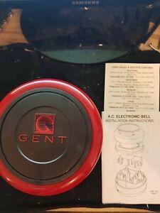 "GENT ELECTRONIC BELL 6"" 24V DC RED MODEL 12141 12141-04"